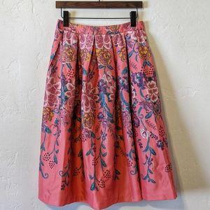 Anthropologie Midi Floral Skirt